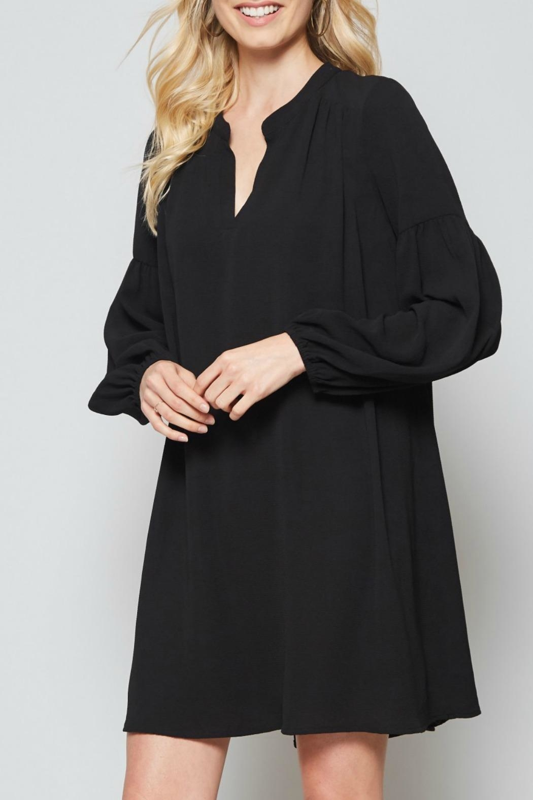 Andree by Unit Black Shift Dress - Front Full Image