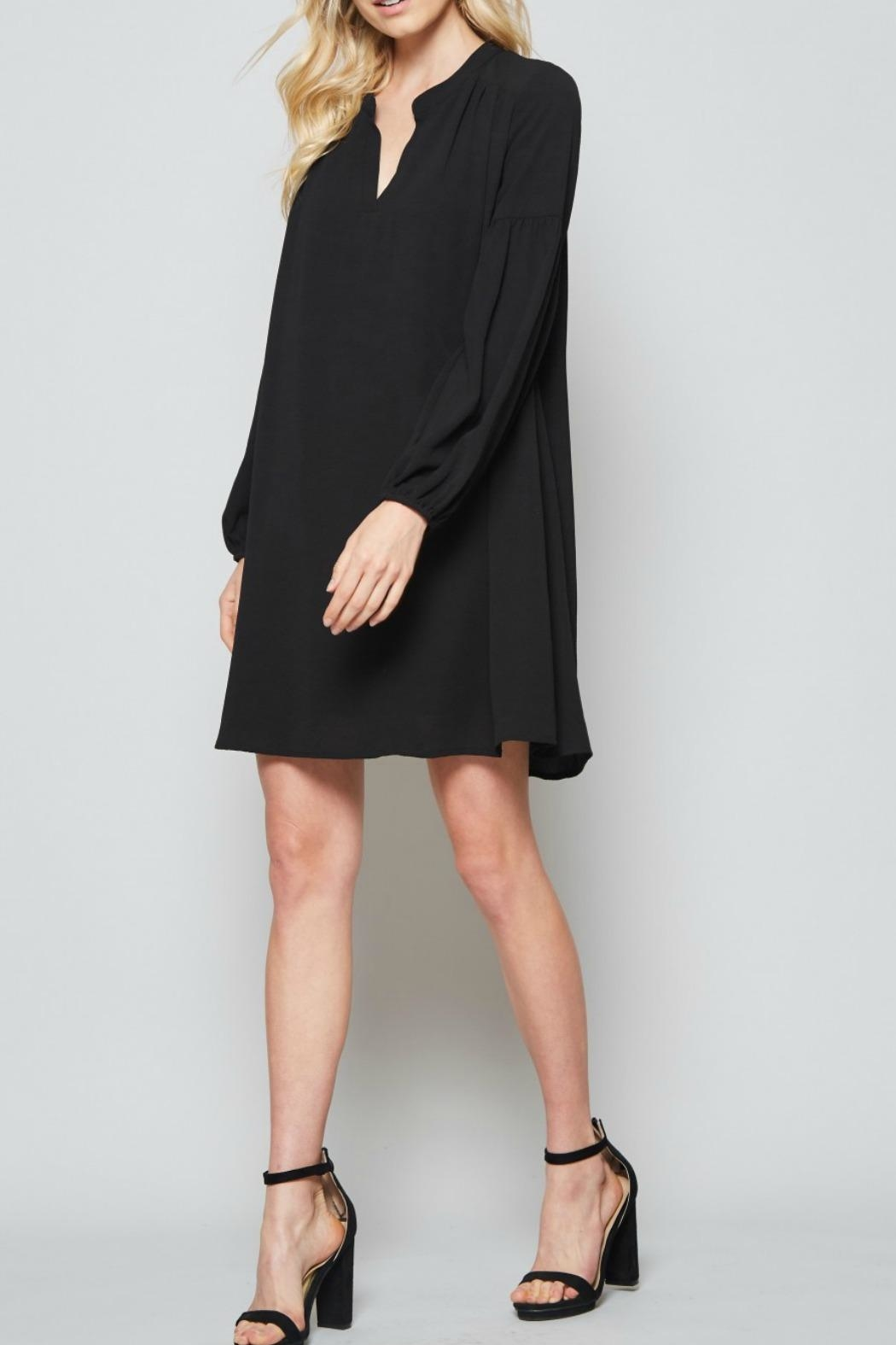 Andree by Unit Black Shift Dress - Side Cropped Image