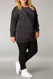 Yest Black Shimmer Lurex Sweater - Product Mini Image