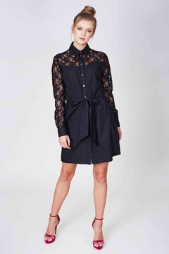Shoptiques Product: Black Shirt Dress