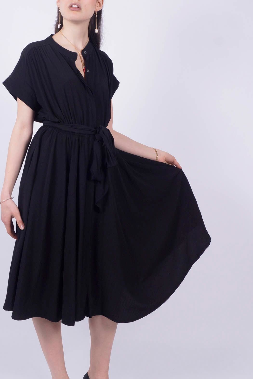 NU New York Black Shirt Dress - Main Image