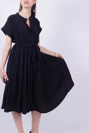 NU New York Black Shirt Dress - Front cropped