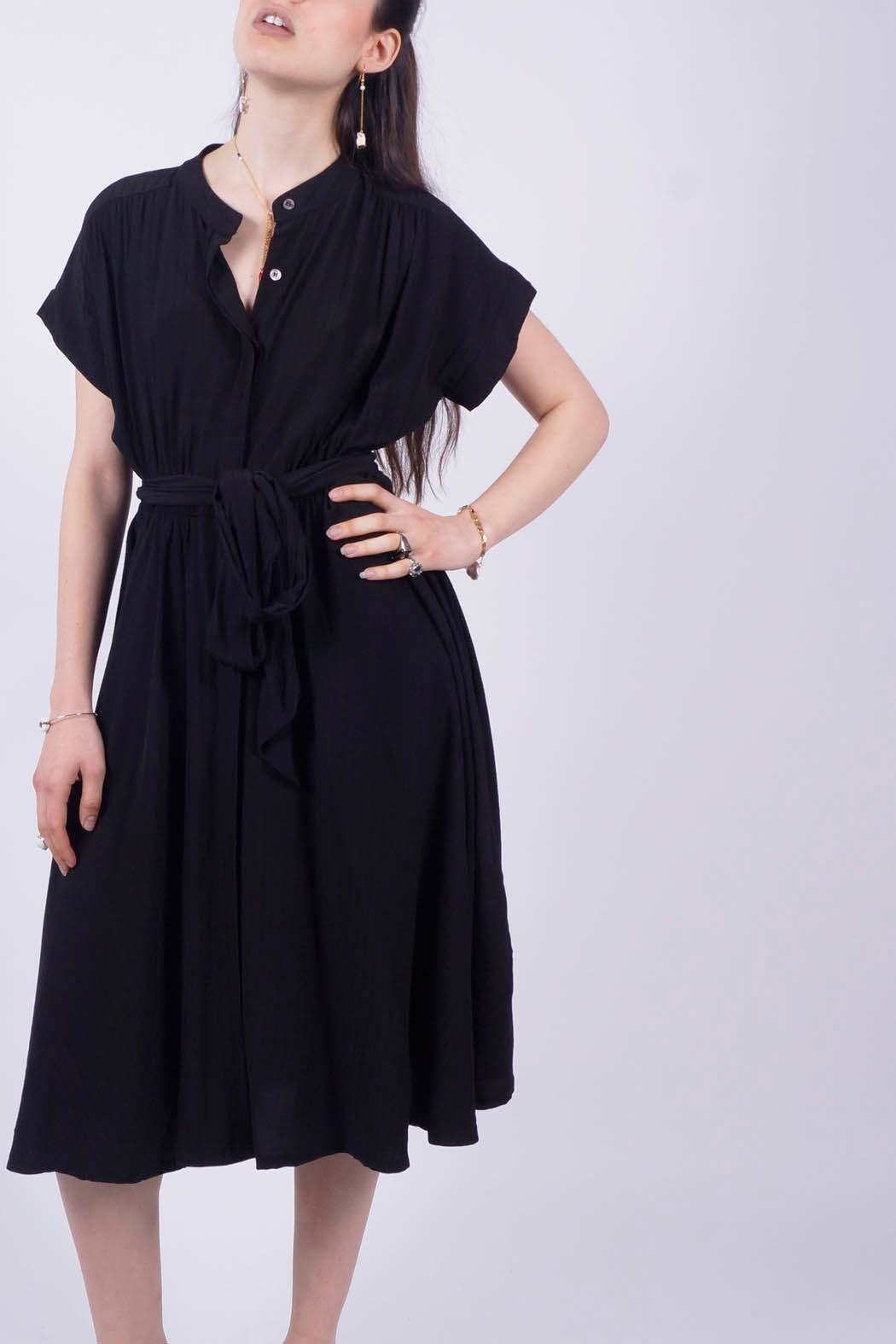 NU New York Black Shirt Dress - Side Cropped Image