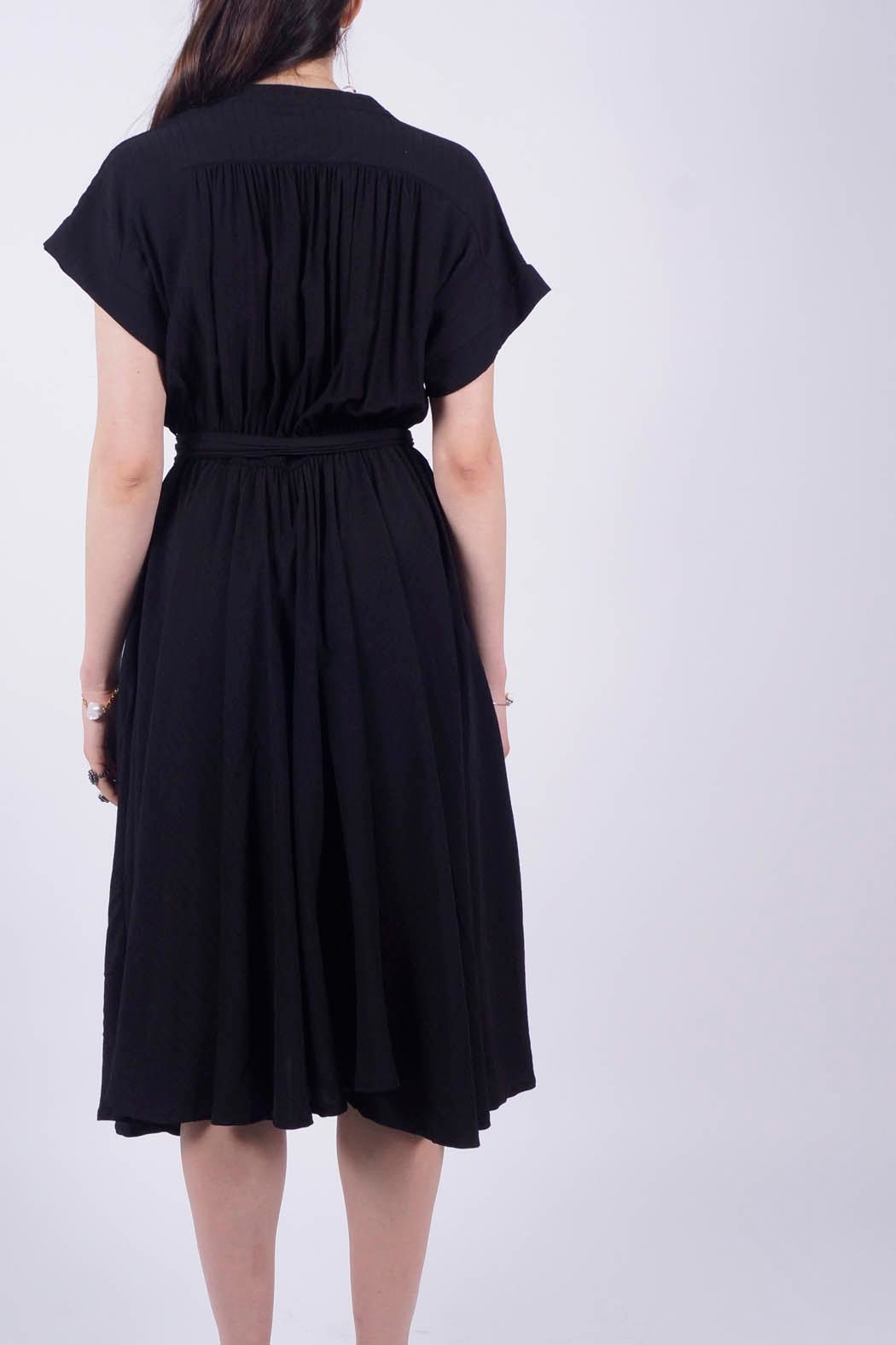 NU New York Black Shirt Dress - Front Full Image