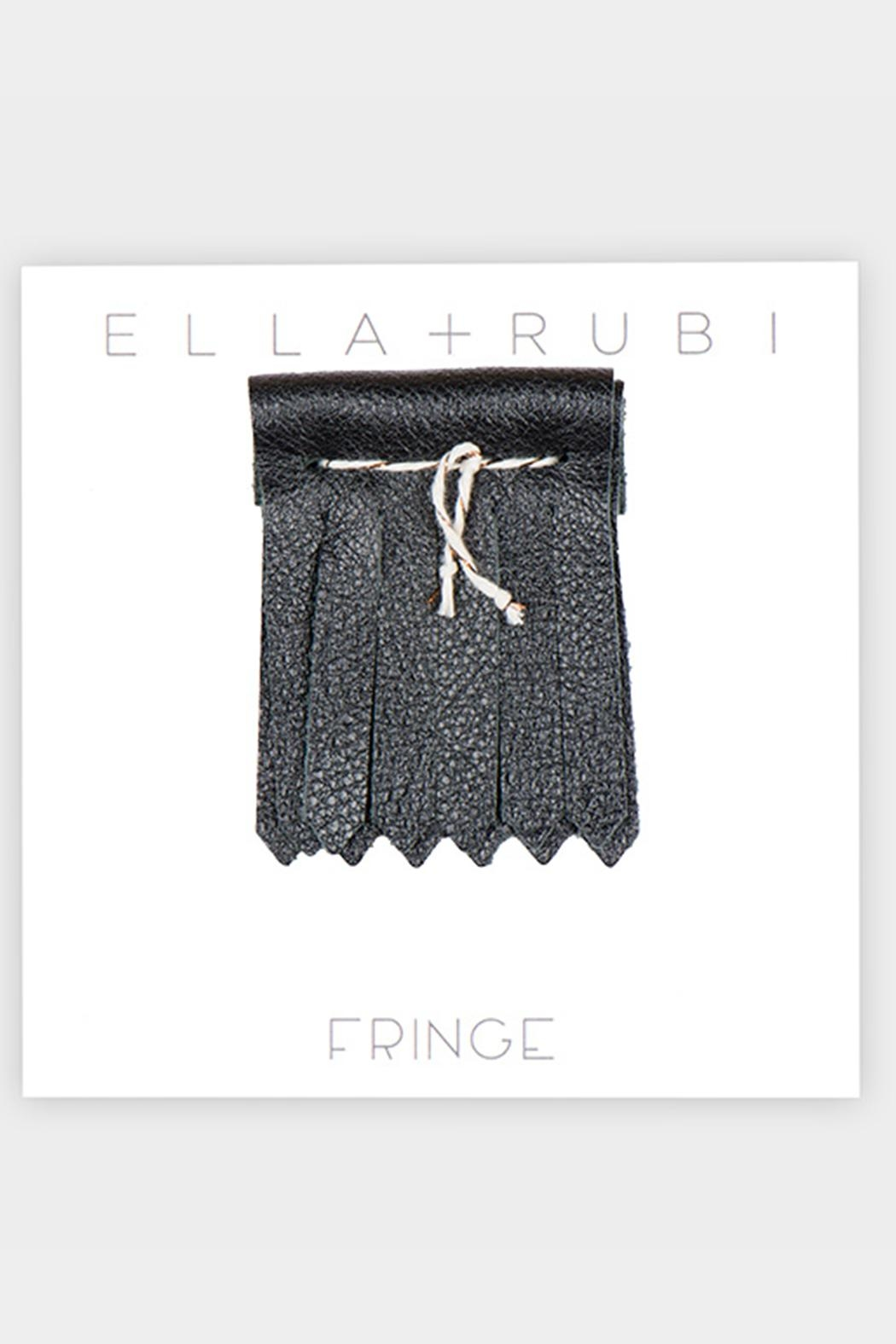 Fringe You Black Shoe Fringe - Back Cropped Image