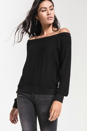 Zsupply Black Shoulder Sweater - Product Mini Image