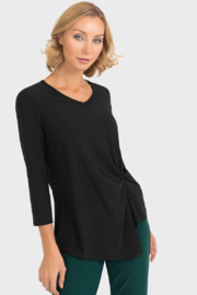 Joseph Ribkoff Black Side Tie Top - Product Mini Image