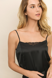 Dress Forum  Black Silk Lace Cami - Product Mini Image