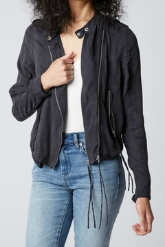 BlankNYC Black Silky Jacket - Product List Image