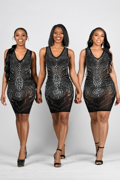 Tiny House of Fashion Black Silver Stud Dress - Product List Image