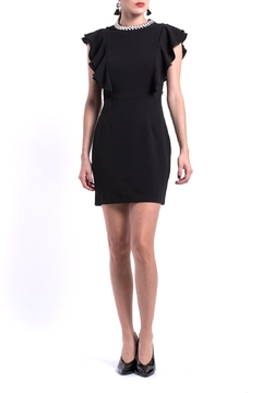Shoptiques Product: Black Silvercollar Dress
