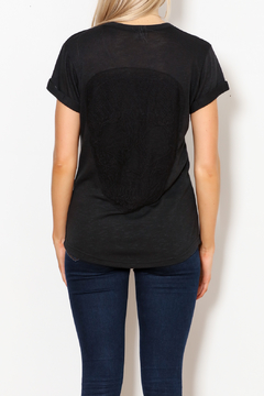 ReLove Black Skull Applique Tee - Alternate List Image