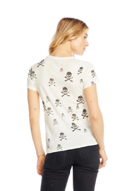 Chaser Black Skull Tee - Front full body