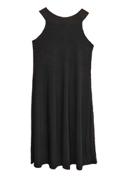 Ellen Parker Black Sleeveless Dress - Front full body