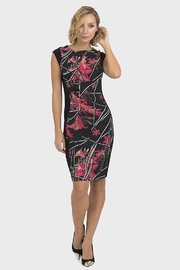 Joseph Ribkoff Black sleeveless dress with red Lilly print - Product Mini Image