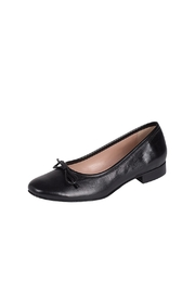 Pascucci Black Smooth-Leather Ballerina - Product Mini Image