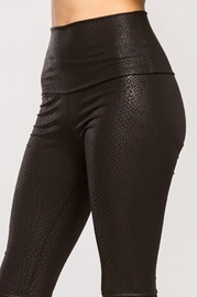 Cherish  Black Snake Skin High Waisted Leggings - Product Mini Image