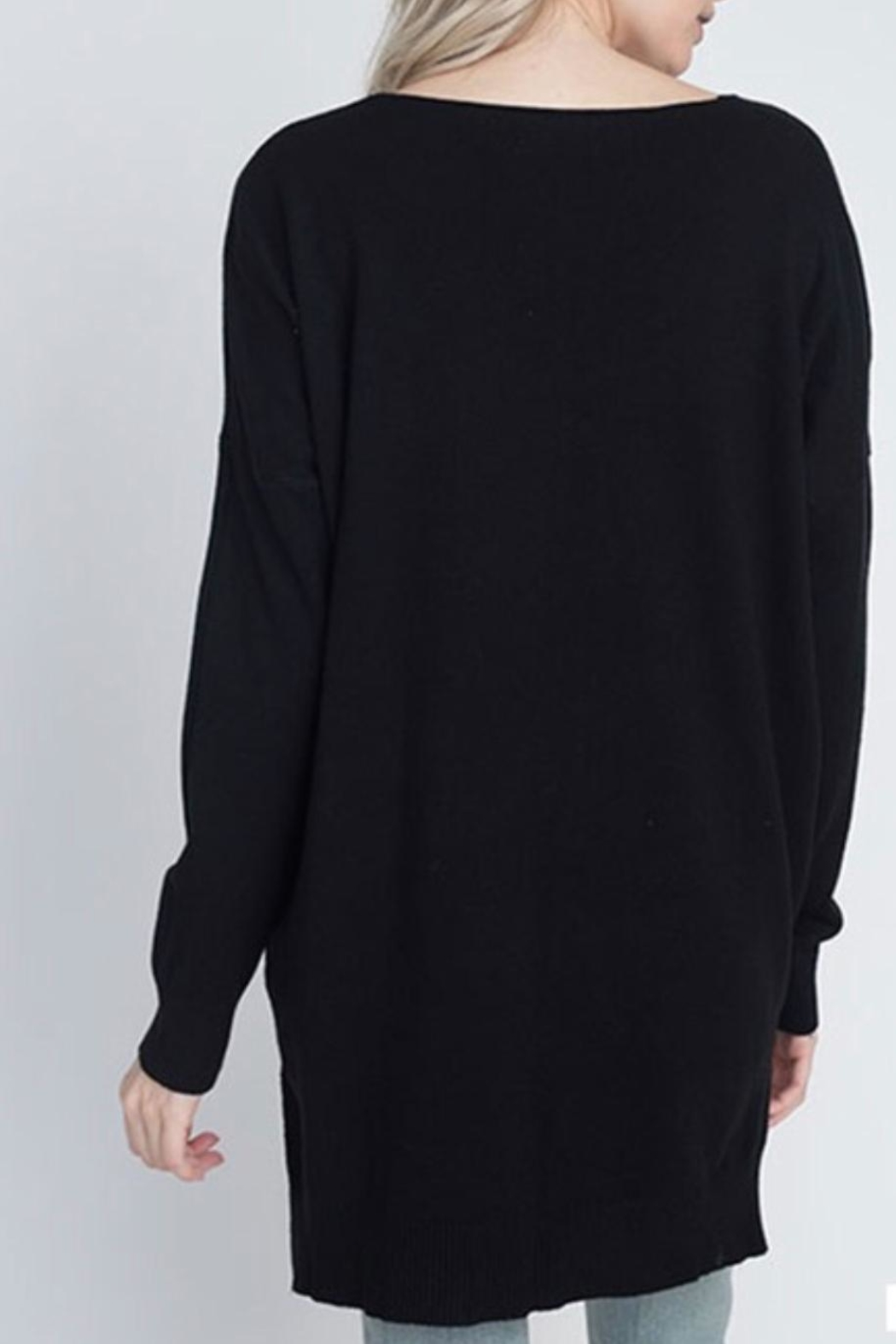 Dreamers Black Soft Sweater - Front Full Image