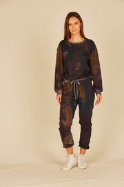 Vintage Havana Black Space Terry Joggers - Front cropped