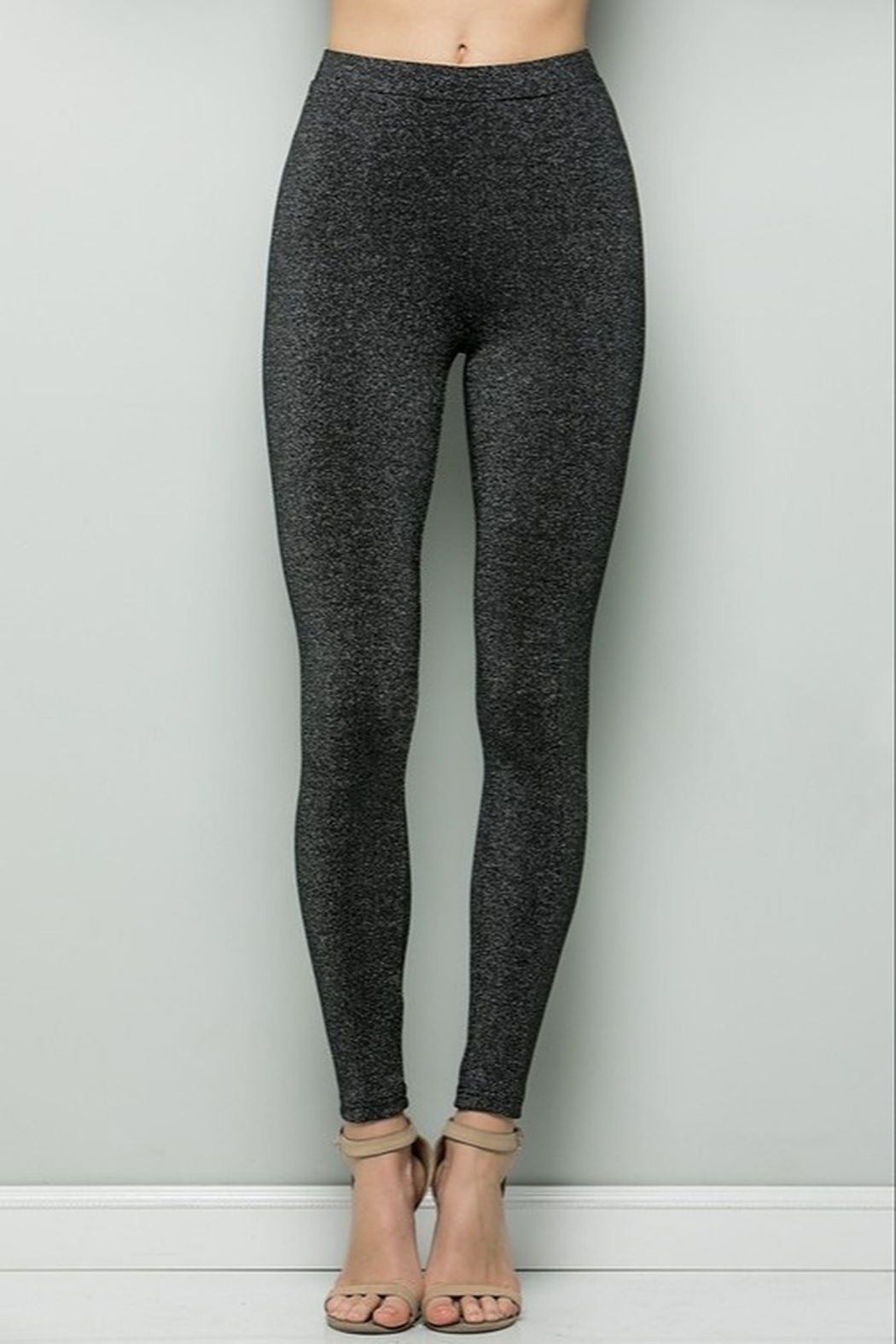See and Be Seen Black Sparkle Leggings - Main Image