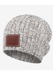 Love Your Melon Black Speckled Beanie - Front cropped
