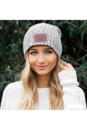 Love Your Melon Black Speckled Beanie - Front full body