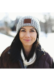 Love Your Melon Black Speckled Cuffed Beanie - Back cropped
