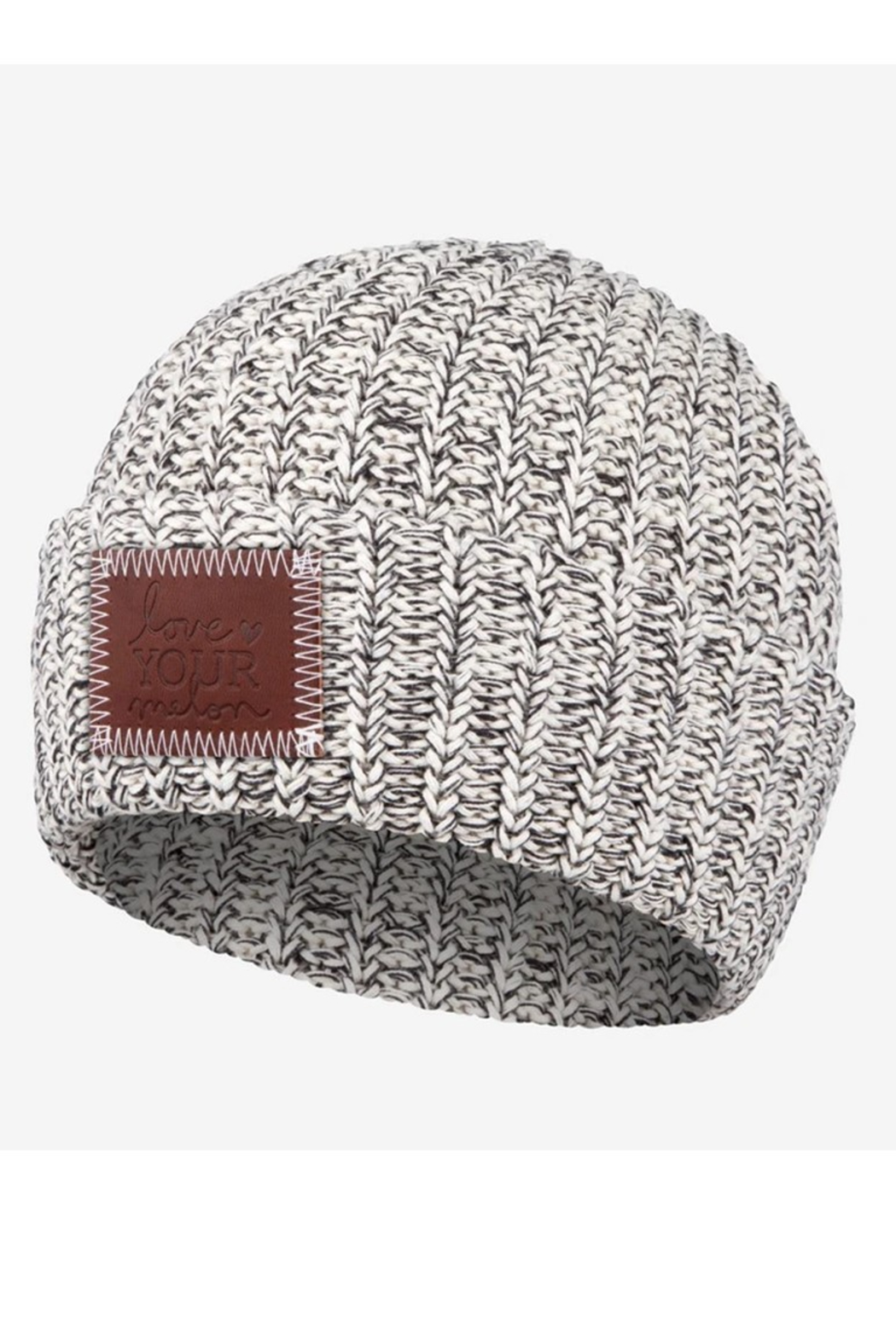 Love Your Melon Black Speckled Cuffed Beanie - Main Image