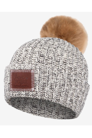 Love Your Melon Speckled Pom Beanie (Natural Pom) - Product Mini Image