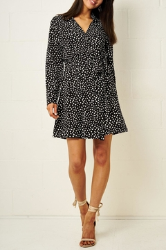 frontrow Black Spot-Print Dress - Product List Image