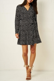 frontrow Black Spot-Print Dress - Product Mini Image