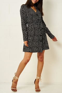 frontrow Black Spot-Print Dress - Alternate List Image