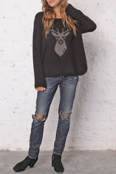 Shoptiques Product: Black Stag Crewneck