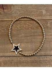 Allie & Chica Black Star Bracelet - Product Mini Image