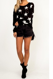 Olivaceous Black Star Sweater - Product Mini Image