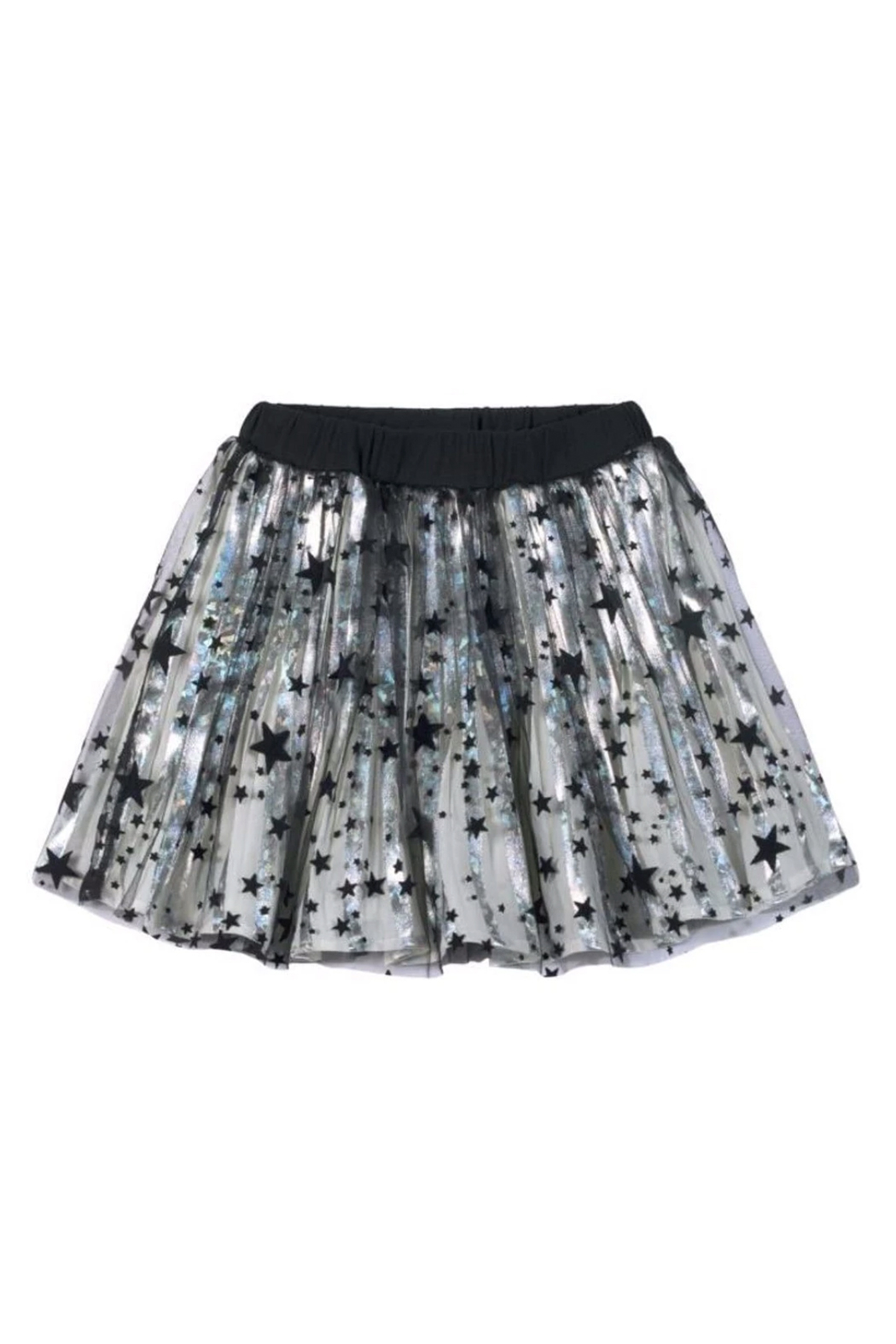 Paper Wings Black Stars Metallic Skirt - Front Cropped Image