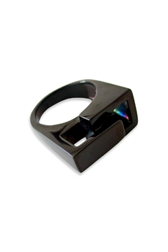 Malia Jewelry Black Steel Ring - Alternate List Image