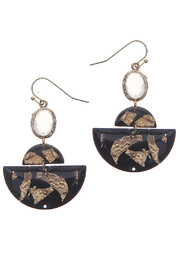 NAKAMOL CHICAGO Black stone earrings - Product Mini Image