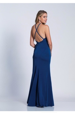 Dave and Johnny Black Strappy Gown - Alternate List Image