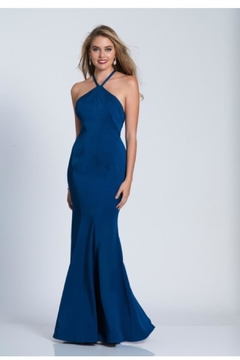 Dave and Johnny Black Strappy Gown - Product List Image