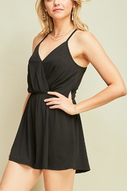 Entro Black Strappy Romper - Front full body