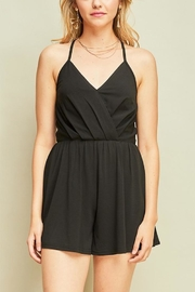 Entro Black Strappy Romper - Product Mini Image