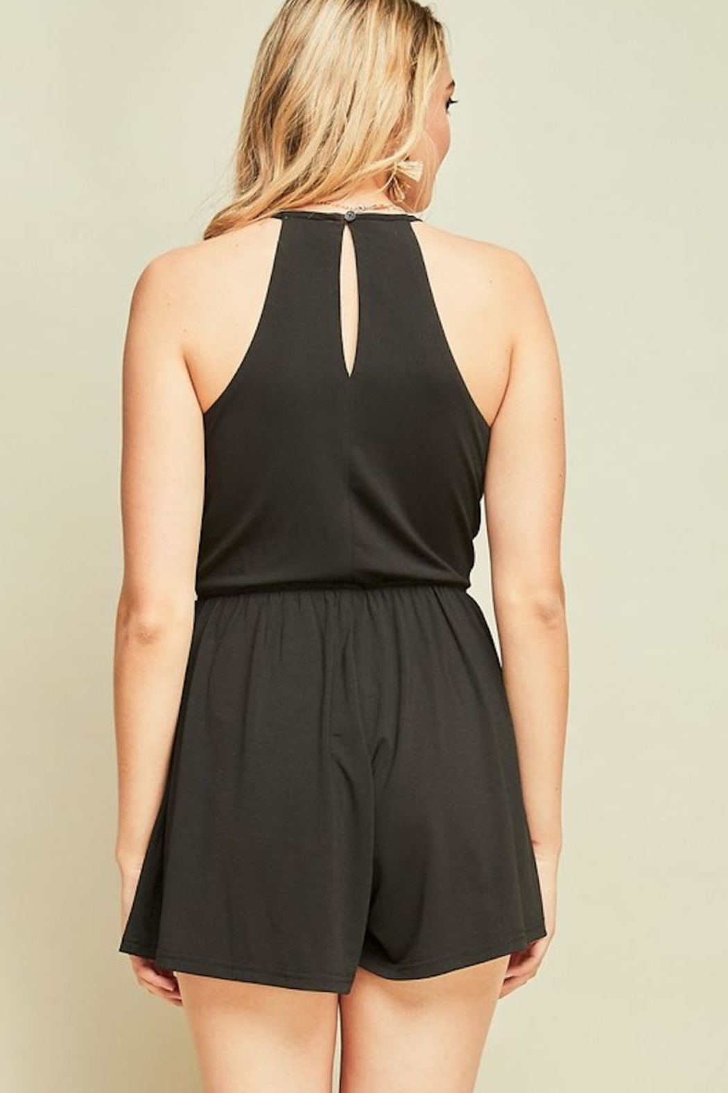 Entro Black Strappy Romper - Side Cropped Image
