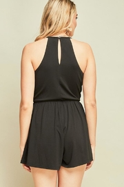 Entro Black Strappy Romper - Side cropped