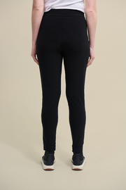 Joseph Ribkoff  Stretchy, black drawstring pants with zip pockets. - Side cropped