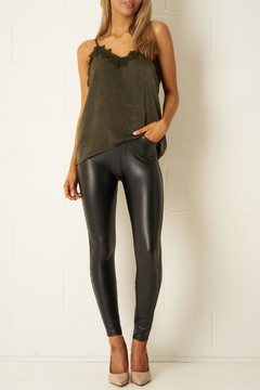 frontrow Black Stretch-Leather-Look Jeans - Alternate List Image