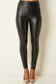 frontrow Black Stretch-Leather-Look Jeans - Product Mini Image