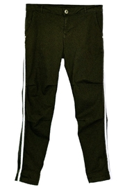 Maryley Black Stretch Pants - Front cropped