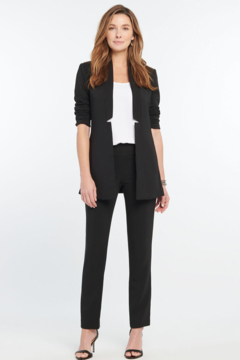 Nic + Zoe  Black stretchy, lightweight, straight pant. So comfortable it will quickly become your go-to pants. - Product List Image