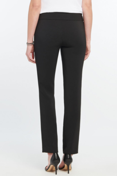 Nic + Zoe  Black stretchy, lightweight, straight pant. So comfortable it will quickly become your go-to pants. - Alternate List Image
